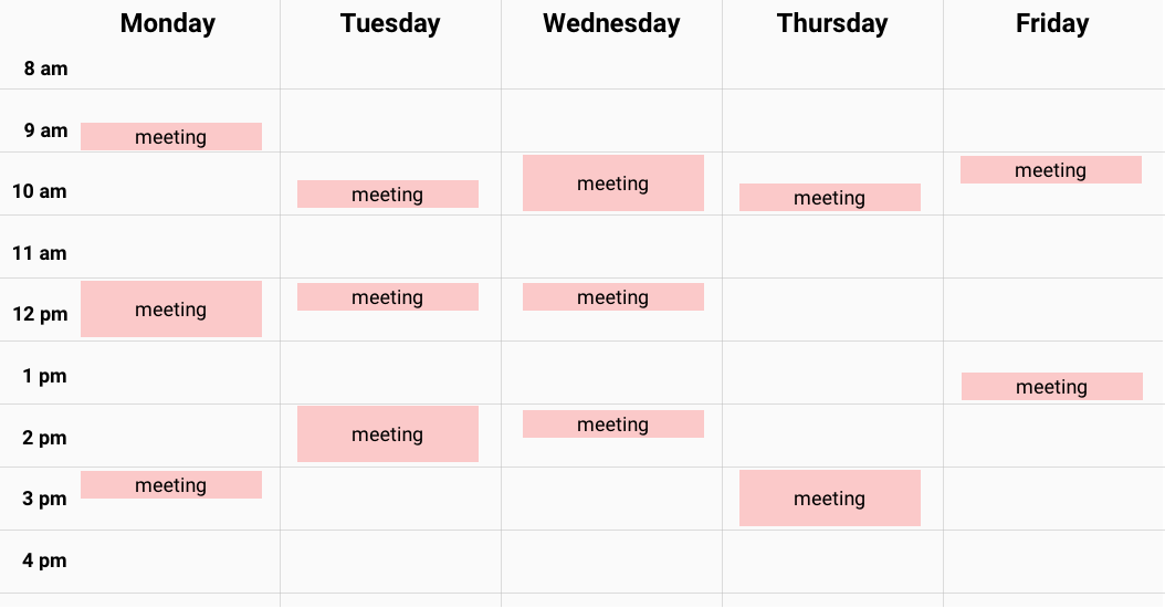 Without Meetter your calendar is really busy